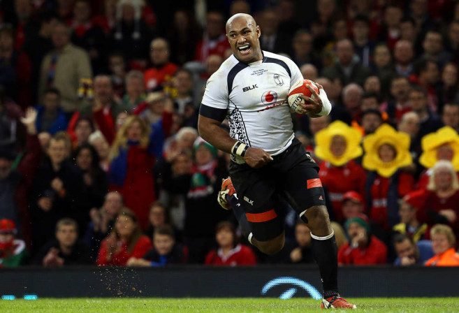 Giant Nemani Nadolo plays on the wing for Fiji. Photo: AFP