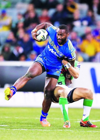 Semi Radradra plays for the Paramatta Eels in the NRL. Photo: Rugby World