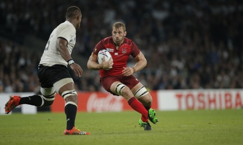 England skipper Chris Robshaw faces Fijian lock Leone Nakarawa in the RWC opening match at Twickenham. Photo: The Guardian