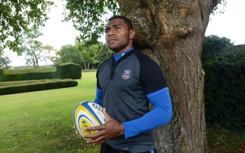Semesa Rokoduguni at the club's HQ in Monkton Farleigh, Somerset.