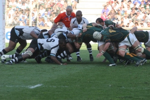 Fiji faces South Africa in the quarterfinal of the 2007 Rugby World Cup in France. Photo: Wikipedia
