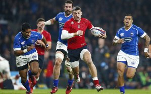 Jonny May and England wore red against Samoa in 2014  Photo: REUTERS