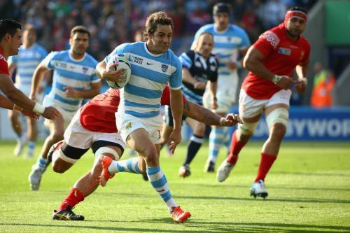 Pumas fly-half Nicolas Sanchez scored 25 poins with a try and eight successful kicks against Tonga. Photo: World Rugby