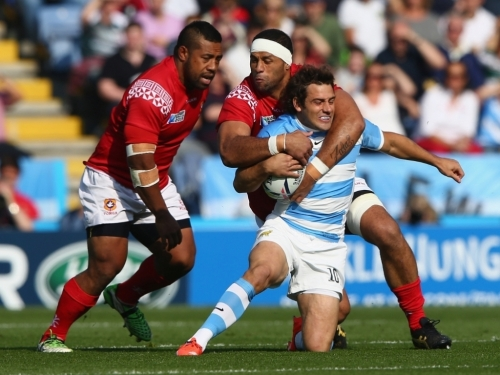 Tonga's hopes of moving to the knock out stage of the competition was snuffed out by the Argentines. Photo: Planet Rugby
