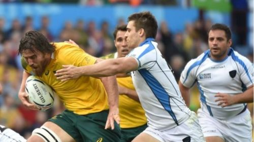 Uruguay struggled to stop Australia in their match in Group A.