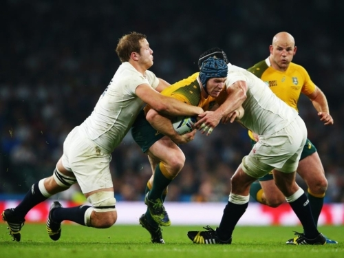 England had no answer to Wallaby David Pocock's forays in the breakdowns in the match between England and Australia at Twickenham. Photo: Planet Rugby