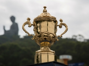 The William Webb-Ellis Cup will be up for grabs for the winner of the competition which ends at the month. Photo: Planet Rugby