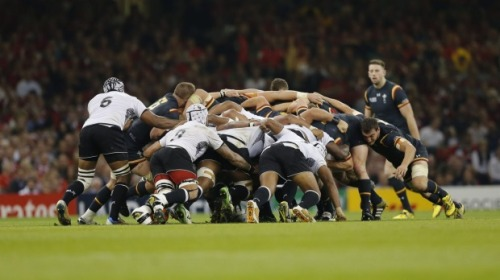 Fiji's scrum has been impressive throughout their Rugby World Cup matches. Photo: WalesOnline