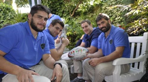 The Uruguay team appeared relaxed ahead of their match with Fiji. Photo: BBC