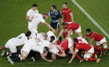 The Wales scrum creaked against England. Photo: Getty Images